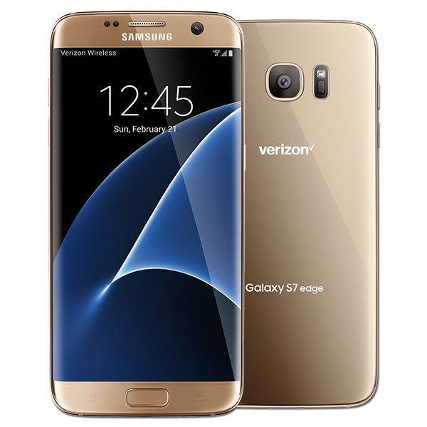 Samsung Galaxy S7 edge, 32GB, (Verizon), Gold Platinum