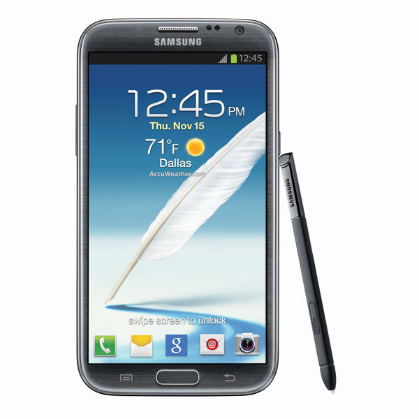 Samsung Galaxy Note II (Sprint), Titanium Gray
