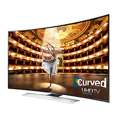 "UHD 4K HU9000 Series Curved Smart TV - 55"" Class (54.6"" Diag.)"