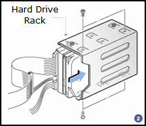 Install hard disk drive