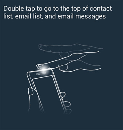 Tilt to zoom : Touch and hold two points on the screen when viewing a