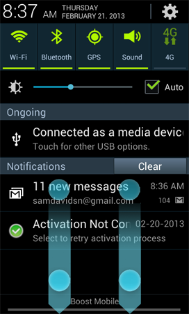 is the Notification Panel, and how do I use it on my Samsung Galaxy S