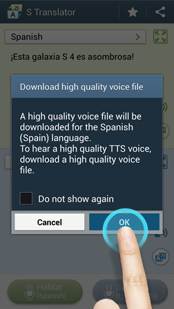 S Translator - Download High Def Voice Files