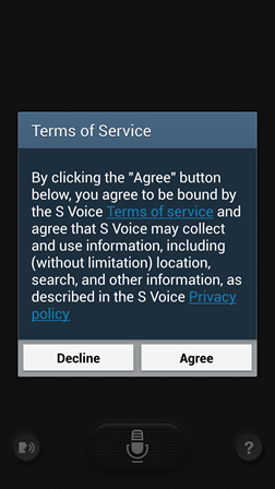 S Voice Terms of Service