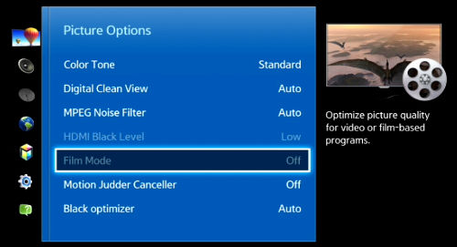 What is Film Mode and how do I enable it on my Samsung TV?(2012-2014 models)