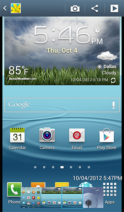 How do I take Screen Shots on my Samsung Galaxy S® III? : T-Mobile
